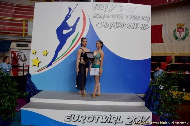 Eva in Nusa z dosezenimi diplomami in plaketo  1