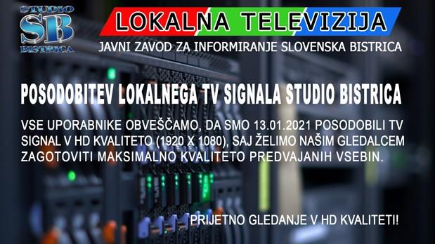 obvestilo ktv HD-signal- splet